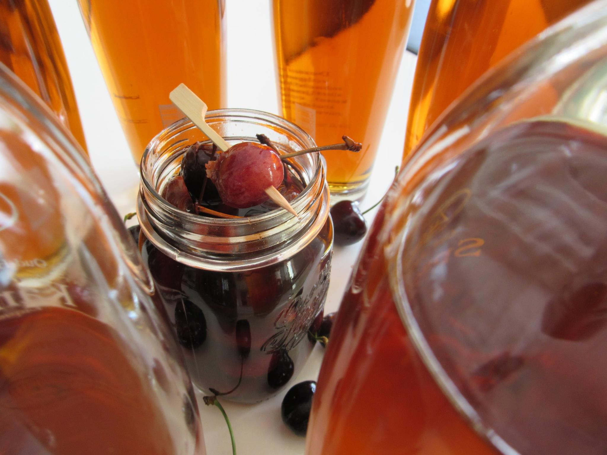 Drunken Cherries Recept